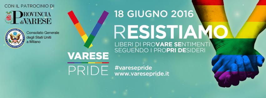 Varese Pride 2016: (R)ESISTIAMO
